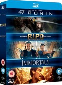 Amazon.co.uk: 47 Ronin / RIPD / Immortals [Blu-ray 3D] für 13,23€ inkl. VSK