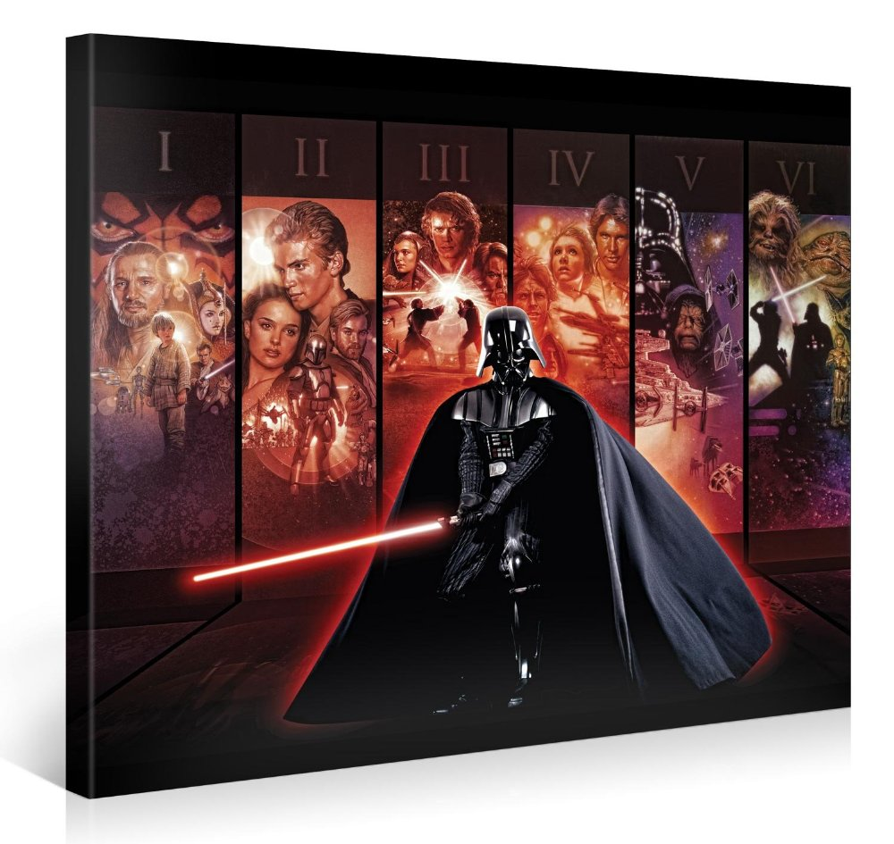 star wars xxl leinwanddruck wandbilder original lizenzprodukt bis zu 83 reduziert bluray. Black Bedroom Furniture Sets. Home Design Ideas