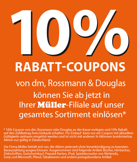 info m ller 10 rabattcoupons von dm rossmann douglas werden wieder akzeptiert bluray. Black Bedroom Furniture Sets. Home Design Ideas