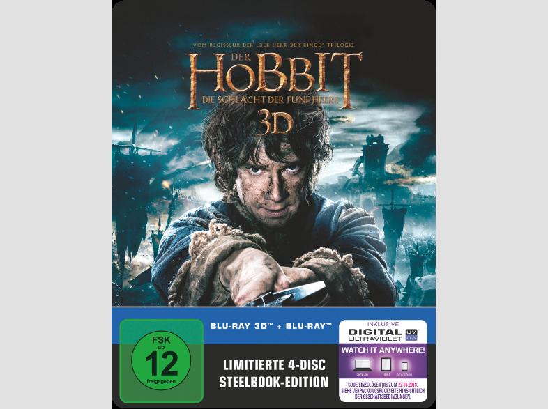 Der Hobbit Die Schlacht Der Fünf Heere 4 Disc Steelbook Edition