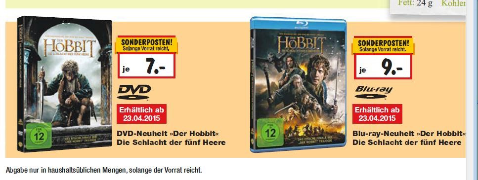 Bayernbw Kaufland Der Hobbit Die Schlacht Der Fünf Heere Blu