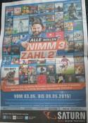 [Lokal??] Saturn Wolfsburg: Nimm 3 Zahl 2 (Blu-rays, DVDs, Games etc.)