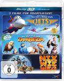 Mueller.de: Jets – Helden der Lüfte / Zambezia – In jedem steckt ein kleiner Held! / Nix wie weg vom Planeten Erde [Blu-ray 3D, 3 Discs] für 12,99€
