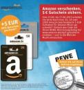Rewe: 5€ Amazon Music Guthaben geschenkt beim Kauf einer Amazon-Geschenkkarte