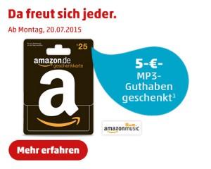 Amazon Gutschein Karte.Penny 5 Amazon Music Guthaben Geschenkt Beim Kauf Einer 25