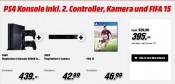 MediaMarkt.de: Schnapp des Tages – PlayStation 4 + 2. Controller, Kamera und FIFA 15 für 395€ inkl. VSK