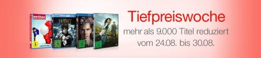 Amazon.de: Tiefpreiswoche – mehr als 9.000 Filme reduziert (24.08. – 30.08.15)