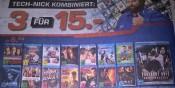 Saturn.de: 3 Blu-rays für 15€ (Einzelpreis 6,99€)