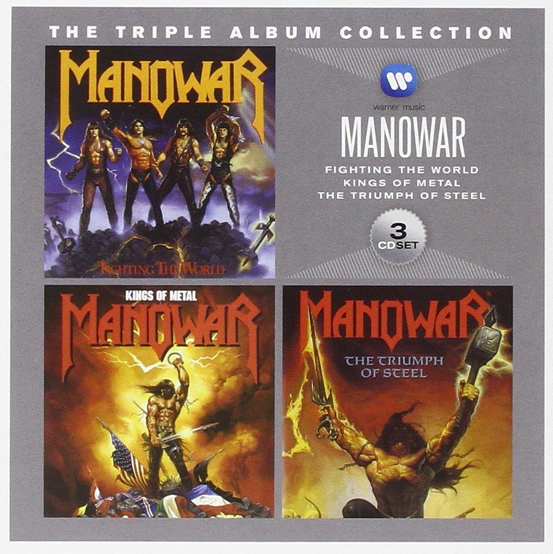 manowar the triple album collection box set audio cd. Black Bedroom Furniture Sets. Home Design Ideas