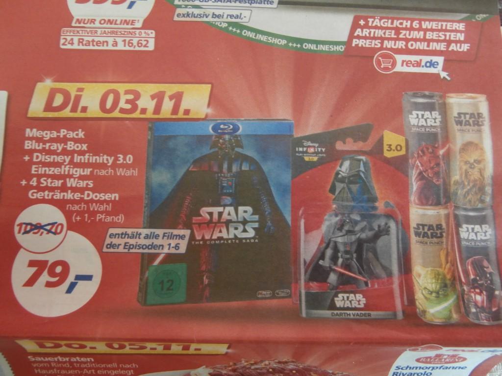 Real.de: Deal am 03.11.15 – Star Wars Blu-ray Box + Disney Infinity ...