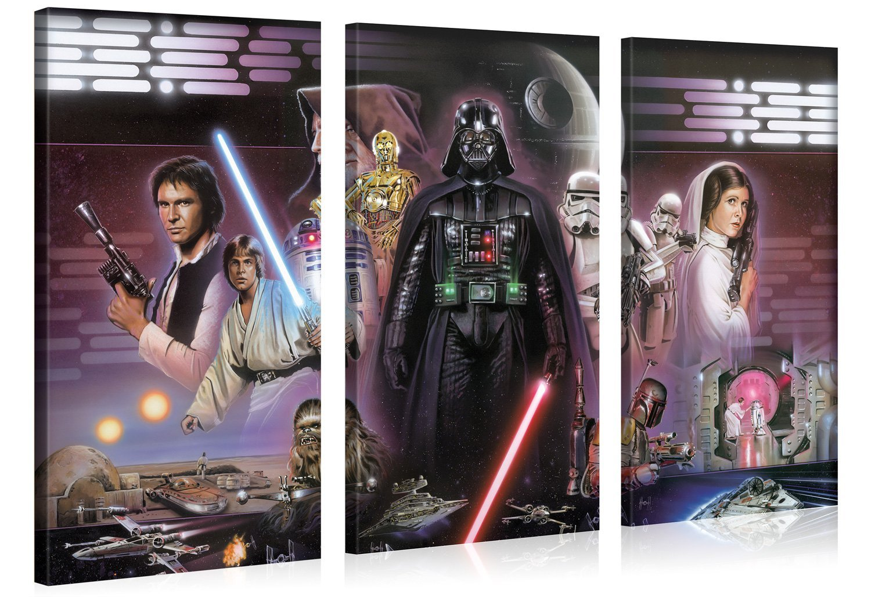Star wars xxl leinwanddruck wandbilder 100x100cm original lizenzprodukt f r 25 95 inkl vsk - Star wars wandbild ...
