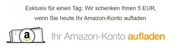 Amazon.de: Wir schenken Ihnen 5 EUR, wenn Sie heute Ihr Amazon-Konto aufladen (nur am 20.11.15)