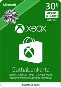 Amazon.de: Xbox Live – 30 EUR Guthaben Karte + 5 EUR Gratis