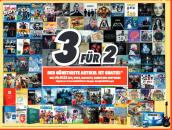 Medimax: Bundesweit 3 für 2 für ALLE CD's, DVD's, BLU-RAYS, Games und Software (nur am 13.05.16)