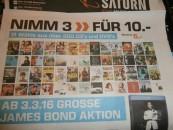 [Lokal?] Saturn: Nimm 3 für 10€ – über 500 CDs und DVDs