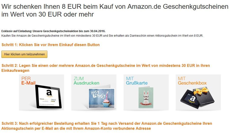 Amazon gutschein kaufen 30