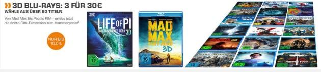 Amazon kontert Saturn.de: 3D Blu-rays – 3 für 30 (Nur bis 10.04.16)