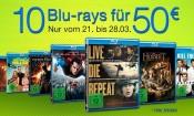 Amazon.de: Neue Aktionen (21.03.16) & 10 Blu-rays für 50 EUR