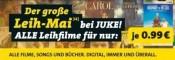 Juke.com: Der große Leih-Mai – ALLE Leihfilme für nur je 0,99€