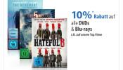 Mueller.de: 10% Rabatt beim Kauf von DVD/Blu-ray am 17.6.16