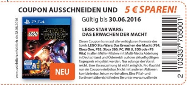 m ller 5 sparen auf das game lego star wars das. Black Bedroom Furniture Sets. Home Design Ideas