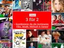 Thalia.de: 3 kaufen, 2 bezahlen (Sortimente Film, Musik, Hörbücher & Games kombinierbar)