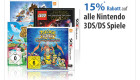 Müller: 15% Rabatt auf alle Nintendo 3DS/DS Spiele am 12.08.2016