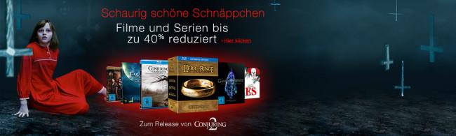 Amazon.de: Neue Aktionen (24.10.16) u.a. 10 Blu-rays für 50 EUR & Schaurig schöne Schnäppchen