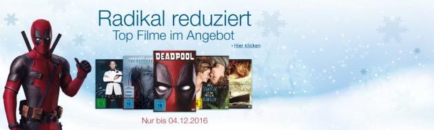 Amazon.de: Wochenaktionen (28.11. – 04.12.16) – 7 Tage Film- und Serien-Highlights / Radikal reduzierte Top Filme & Serien
