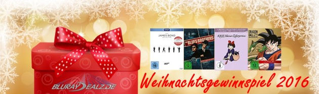 Bluray-Dealz.de: Weihnachtsgewinnspiel 2016 (bis 26.12.16)