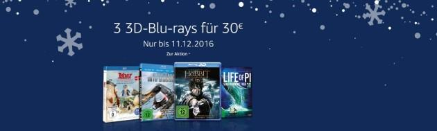 Amazon.de: Wochenaktionen (05.12. – 11.12.16) – 7 Tage Film-Angebote & 3 3D-Blu-rays für 30 EUR uvm.