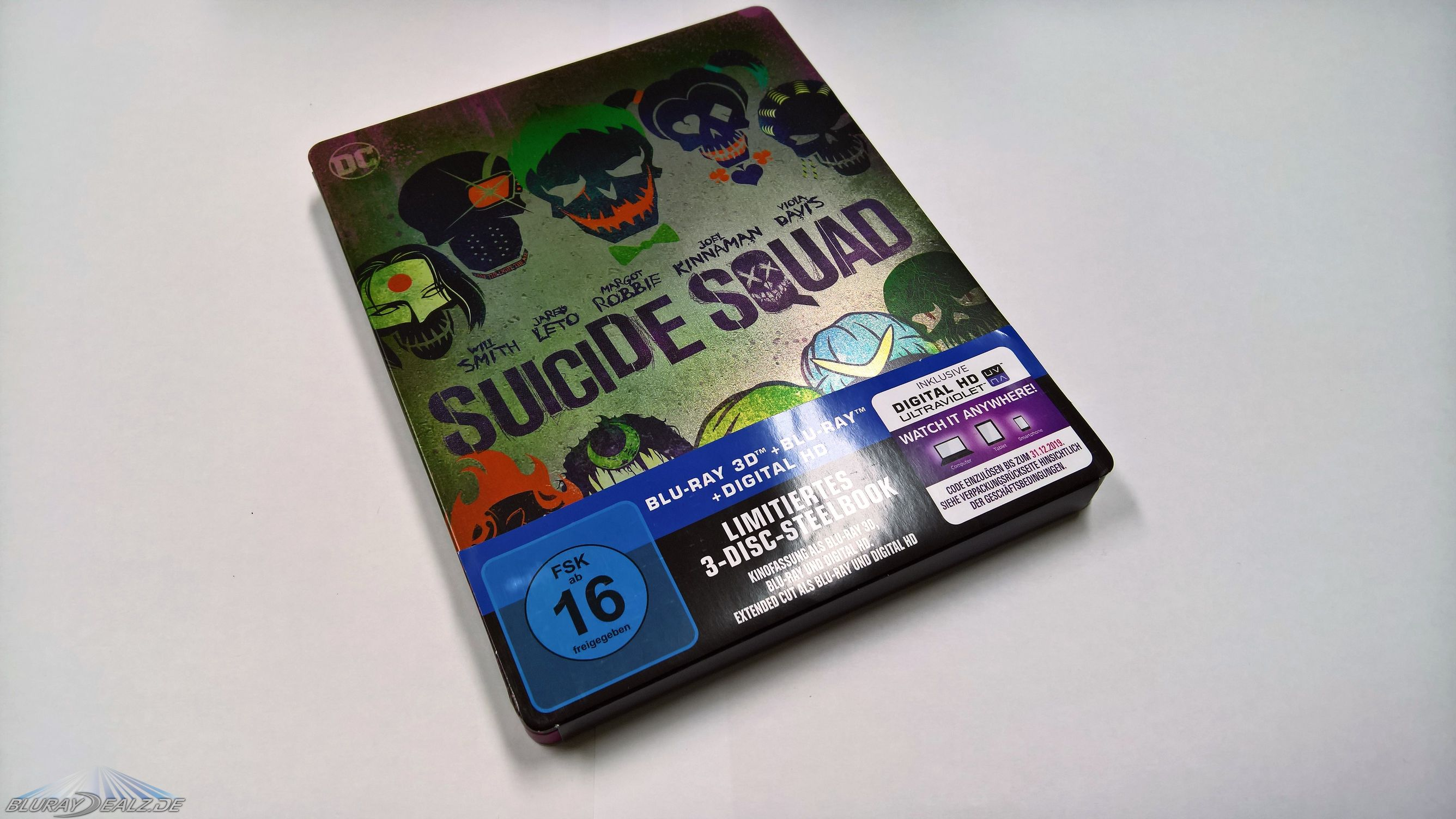 review suicide squad 3d steelbook inkl blu ray extended cut exklusiv bei. Black Bedroom Furniture Sets. Home Design Ideas