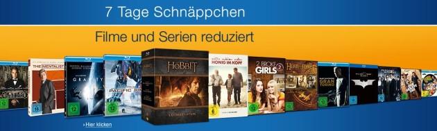Amazon.de: 7 Tage Filme- & Serienschnäppchen und Neue Aktionen (30.01.17)