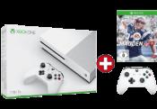 MediaMarkt.de: Gönn Dir Dienstag – MICROSOFT Xbox One S 1TB Konsole inkl. Madden NFL 17 und 2. Controller für 319€