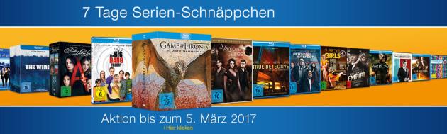 Amazon.de: Neue Aktionen (27.02.17) und 7 Tage Serien-Schnäppchen