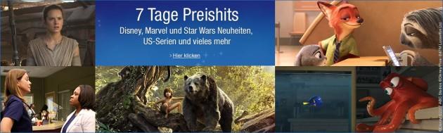 Amazon.de: Neue Aktionen (20.03.17) u.a. Disney: 7 Tage Preishits bis 26.03.17
