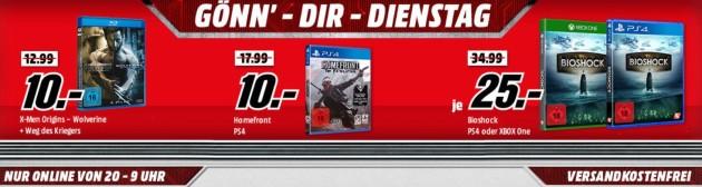 MediaMarkt.de: Gönn dir Dienstag z.B. Scream Quadrilogy (Uncut Steel-Edition) [Blu-ray] für 18€