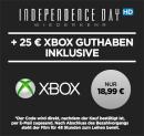 Wuaki.tv: 25€ Xbox Live Guthaben + Independence Day: Wiederkehr (HD) als Stream für 18,99€