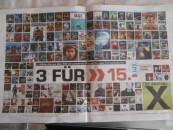 [Bundesweit?] Saturn Wesel: Neuer Prospekt – 3 für 15€ Aktion aus CDs und Blu-rays