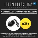 Wuaki.tv: Google Chromecast + Idependence Day – Wiederkehr (HD) *Leihfilm* für 22,99€