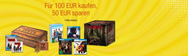 Amazon.de: Sony Filme – Für 100 EUR kaufen, 50 EUR sparen (bis 23.04.17)