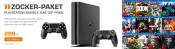 Saturn.de: PS4 Konsole Slim 500 GB + 2. Controller + 2 Spiele nach Wahl für 299€ inkl. VSK