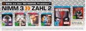 Amazon kontert Saturn.de: 3für2 Aktion auf alle Marvel-Produkte (Filme & Games) ab 09.04.17