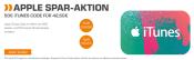 Saturn.de: 50€ iTunes-Guthaben für 42,50€ bei Saturn (nur am 14.04.17)