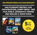 Wuaki: Ghostbusters, Angry Birds – Der Film, Pixels, Gänsehaut und Könige der Wellen 2: Wave Mania für 10€ in HD