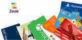 Zeek.me: Gutscheinkarten mit Rabatt abzgl. 5€ Gutschein – z.B. 25€ Media Markt Guthaben für 18,30€