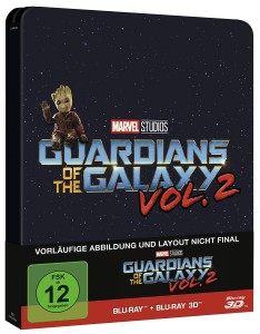 Guardians of the Galaxy Vol. 2 Blu-ray 2D & 3D Steelbook Edition