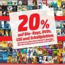 [Offline] Amazon kontert MediaMarkt: 20% Rabatt auf alle Blu-rays, DVDs, CDs und Schallplatten am 26.+27.05.17