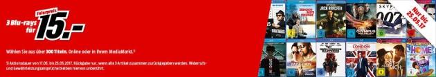 Amazon kontert MediaMarkt.de: 3 Blu-ray Filme für 15€ z.B. Mission: Impossible – Phantom Protokoll (Steelbook), Lethal Weapon 1-4  (Steelbook)