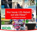 Thalia.de: Filmsale + Gutschein 13% (nur heute)